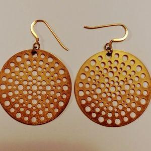 Gold disk earrings by Foxy